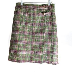 Boden Size 6L British Tweed By Moon Wrap Skirt
